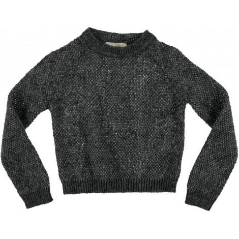 Jersey gris de lana LUREX - Búho