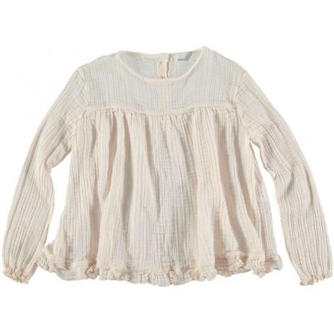 Camisa-blusa de niña en crudo CRISTIE - Búho