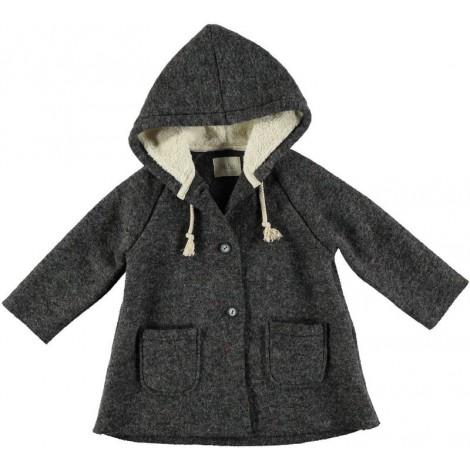 Abrigo gris de lana con capucha JULES - Búho