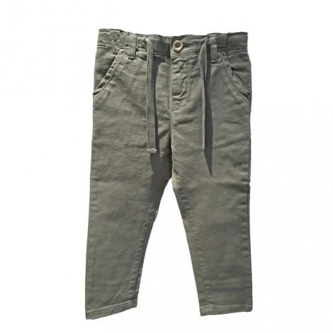 Pantalón niño con cinta en musgo DAVE - Búho