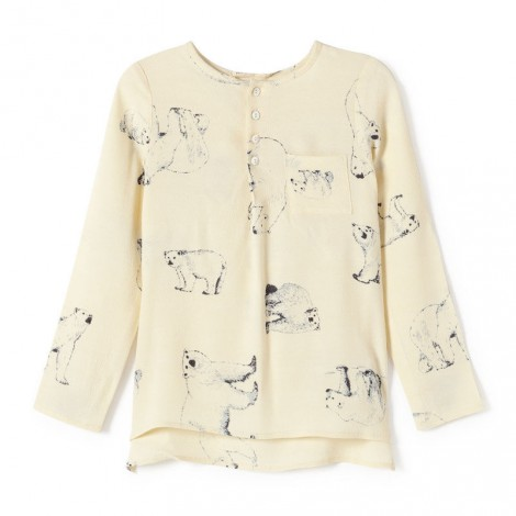 Camisa niña BLUSA  POLAR BEARS crudo - Nice Things