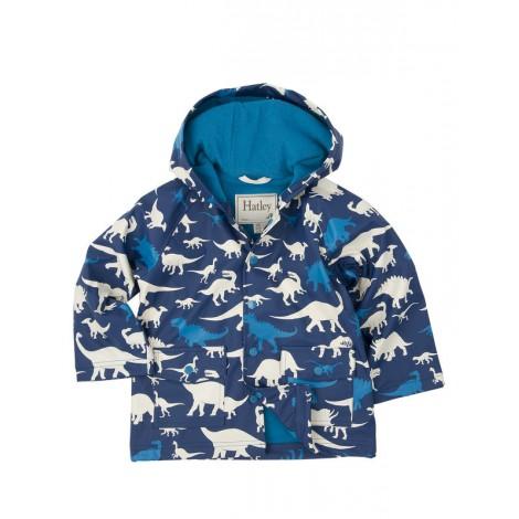 Parka impermeable niño capucha azul con dinos - HATLEY