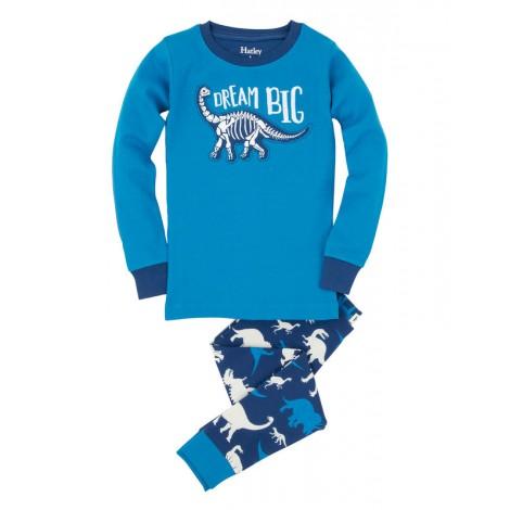 Pijama niño 2 piezas DINOS brilla en oscuridad - HATLEY