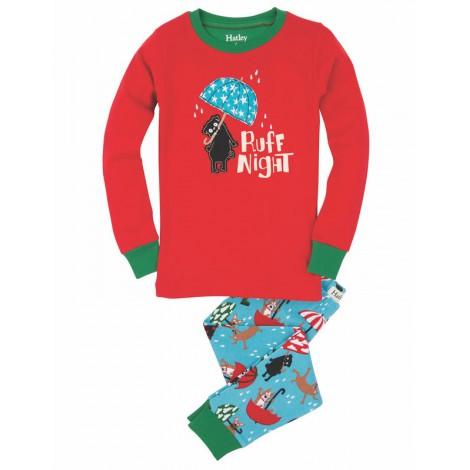 Pijama infantil 2 piezas rojo noche de perros - HATLEY