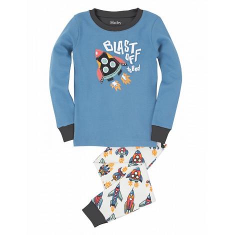 Pijama niño 2 piezas COHETES brilla a oscuras - HATLEY
