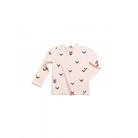 Camiseta infantil manga larga PAJAROS ROSA  - LLANA