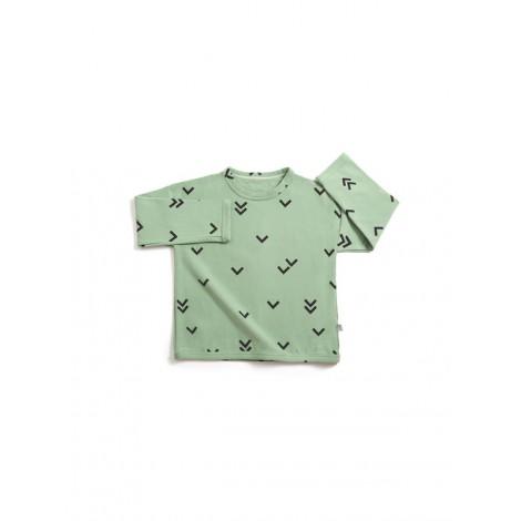 Jersey bebé suave BIRDS GREEN pajaros verde - LLANA