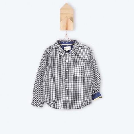 Camisa niño cuadro vichy JEAB puño azul - Arsène
