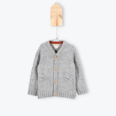Jersey niño botones cardigan JEFERSON gris - Arsène