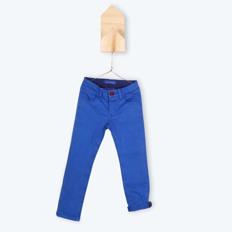 Pantalón infantil ajustable slim JULIO azul - Arsène