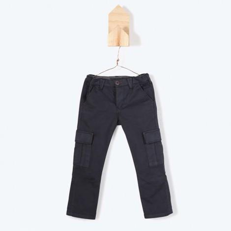 Pantalón niño bolsillos elast. JULIE antracit ANTRACITA Y08