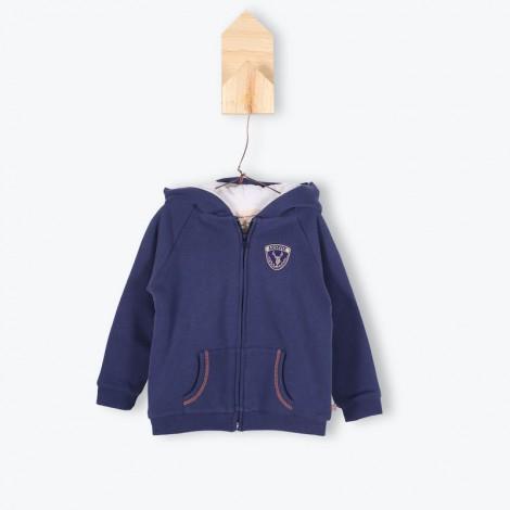 Jersey capucha sudadera JUVENAL azul y borrego - Arsène