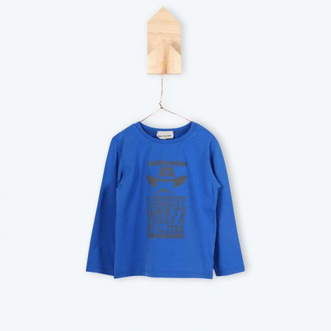 Camiseta niño manga larga JAROD azul sheriff - Arsène