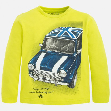 Camiseta m/l coche en Lemon tea - Mayoral