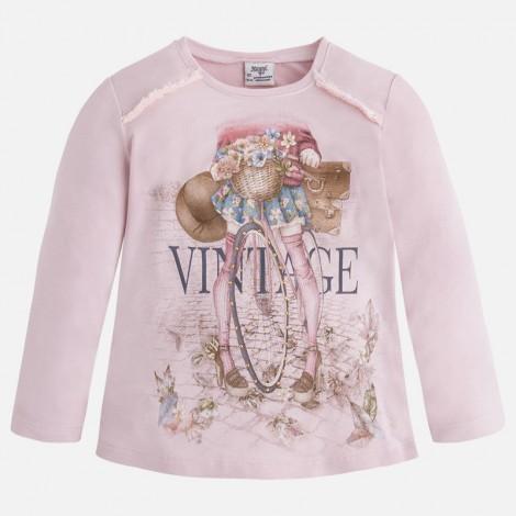 Camiseta m/l vintage en Rosaceo - Mayoral