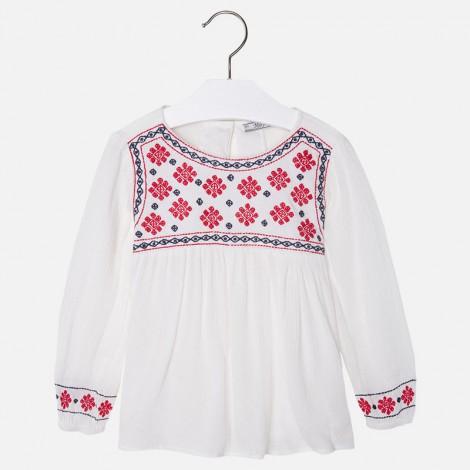 Blusa bordada en Rojo - Mayoral