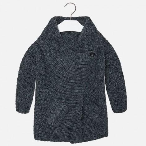 Rebeca tricot cruzada en Acero vig - Mayoral