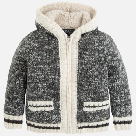 Canguro tricot forrado en Grafito vi - Mayoral