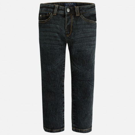 pantalon punto tejano en gris mayoral