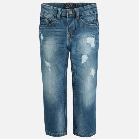 Pantalon tejano relaxed rotos en Basico - Mayoral