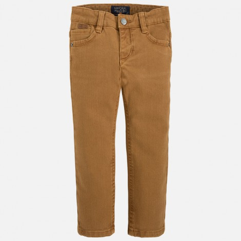 pantalon delavado regular fit en macadamia mayoral