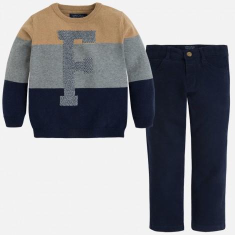 Conjunto niño  pantalón jersey en Marino - Mayoral