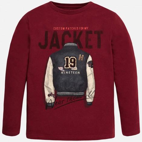 Camiseta m/l custom en Borgoña - Mayoral