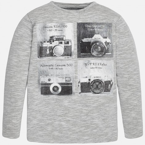Camiseta m/l camera en Gris vig - Mayoral