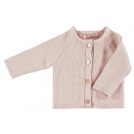 Jersey para niña Fenice rosa de Normandie