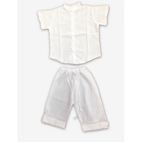 conjunto ibizenco niño camisa mao mc y pantalón