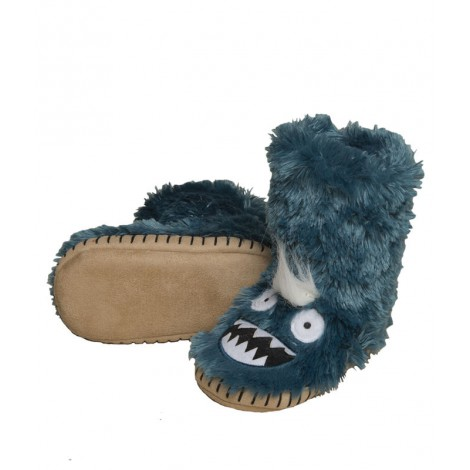 Bota peluda ir por casa - ice monsters azul - Hatley