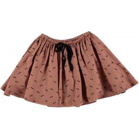 Falda para niña volantes LUNA en color arcilla - Búho