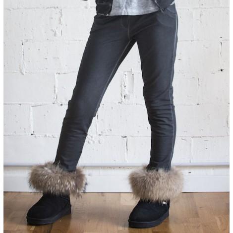 Pantalón baggy niña tintado frio color gris