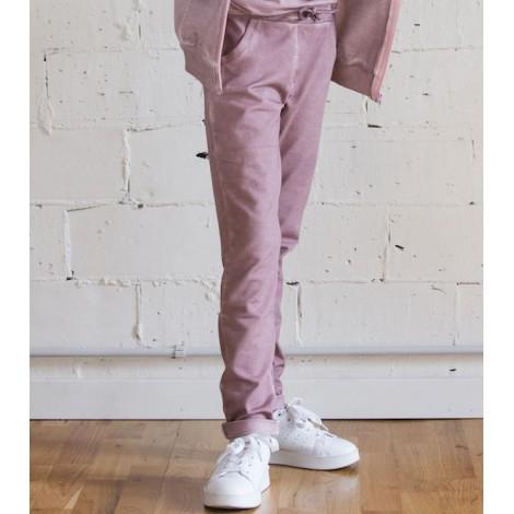 Pantalón baggy niña tintado frio color rosa