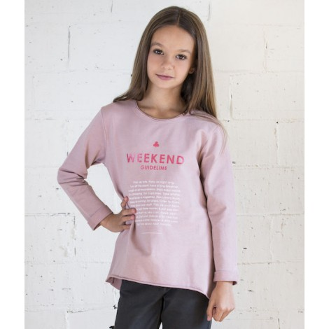Sudadera niña  WEEKEND color rosa