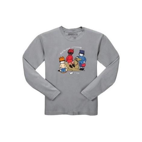 Camiseta infantil REIS D'ORIENT manga larga en gris