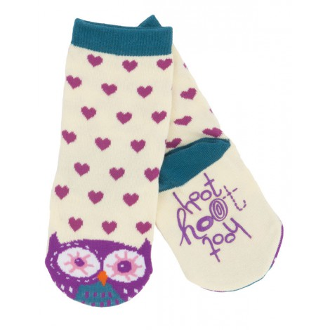 Calcetín infantil BÚHOS antideslizante - animal socks