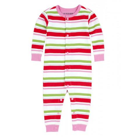 Pijama bebé entero sin pie y corchetes RAYAS CIERVO