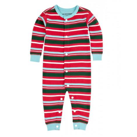 Pijama bebé entero sin pie y corchetes RAYAS CHRISTMAS