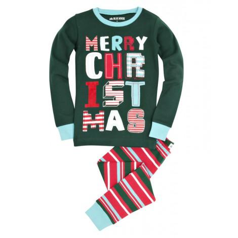 Pijama niño a rayas 2 piezas MERRY CHRISTMAS navidad