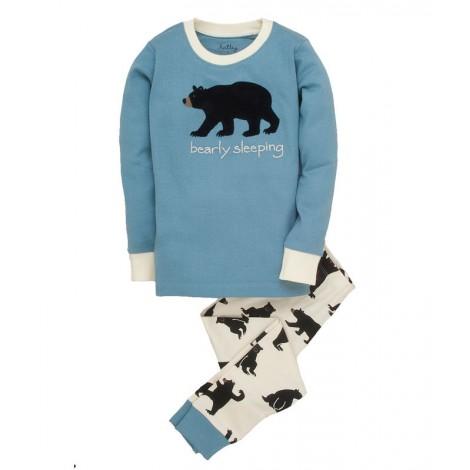 Pijama niño manga larga OSO AZUL 2 piezas