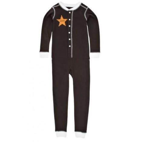 Pijama bebé tipo mono del OESTE manga larga marrón