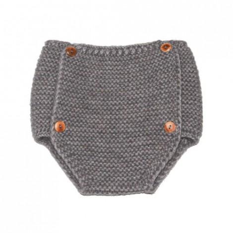 Ranita tricot vintage gris tipo braguita con botones