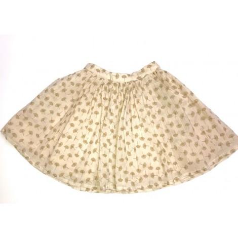 Falda ARIANE crep de algodón en rosa palo