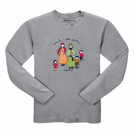 Camiseta infantil JEGANTS manga larga en gris vigoré