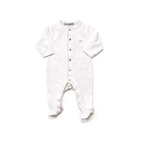 Pijama bebé algodón felpa y pie en crudo
