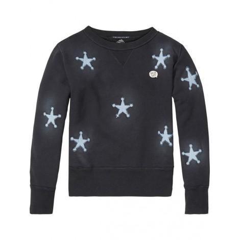 Jersey sudadera niña con parches estrellas