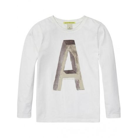 Camiseta A-B manga larga blanca