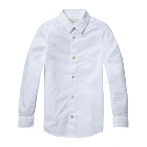 Camisa de vestir para niño refinada blanca
