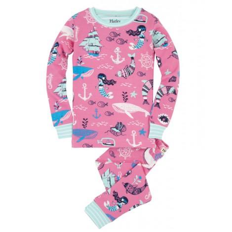 Pijama niña BALLENAS 2 piezas m/l algodón orgánico